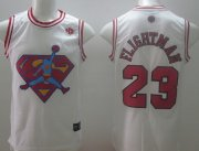 Wholesale Cheap Chicago Bulls #23 Flightman White Swingman Jersey
