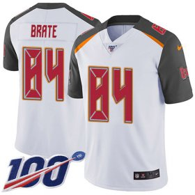 Wholesale Cheap Nike Buccaneers #84 Cameron Brate White Men\'s Stitched NFL 100th Season Vapor Untouchable Limited Jersey