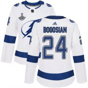 Cheap Adidas Lightning #24 Zach Bogosian White Road Authentic Women's 2020 Stanley Cup Champions Stitched NHL Jersey