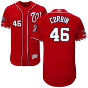 Wholesale Cheap Nationals #46 Patrick Corbin Red Flexbase Authentic Collection 2019 World Series Champions Stitched MLB Jersey