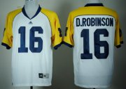 Wholesale Cheap Michigan Wolverines #16 Denard Robinson White Cowboys Classic Jersey