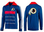 Wholesale Cheap NFL Washington Redskins Team Logo Jacket Blue_1