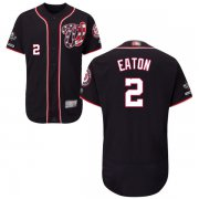 Wholesale Cheap Nationals #2 Adam Eaton Navy Blue Flexbase Authentic Collection 2019 World Series Champions Stitched MLB Jersey