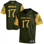 Wholesale Cheap Notre Dame Fighting Irish 17 James Onwualu Olive Green College Football Jersey