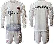 Wholesale Cheap Bayern Munchen Blank Away Long Sleeves Soccer Club Jersey