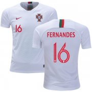 Wholesale Cheap Portugal #16 Fernandes Away Kid Soccer Country Jersey