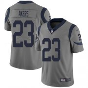 Wholesale Cheap Nike Rams #23 Cam Akers Gray Men's Stitched NFL Limited Inverted Legend Jersey
