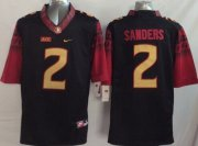 Wholesale Cheap Florida State Seminoles #2 Deion Sanders 2014 Black Limited Jersey