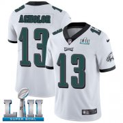 Wholesale Cheap Nike Eagles #13 Nelson Agholor White Super Bowl LII Youth Stitched NFL Vapor Untouchable Limited Jersey