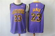 Wholesale Cheap Lakers 23 Lebron James 2019 City Edition Nike Swingman Jersey