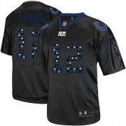 Wholesale Cheap Nike Colts #12 Andrew Luck New Lights Out Black Men's Stitched NFL Elite Jersey