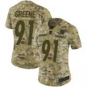 Wholesale Cheap Nike Steelers #91 Kevin Greene Camo Women's Stitched NFL Limited 2018 Salute to Service Jersey