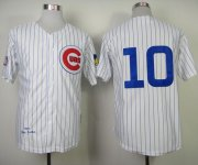 Wholesale Cheap Mitchell and Ness 1969 Cubs #10 Ron Santo White Throwback Stitched MLB Jersey