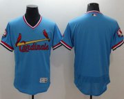 Wholesale Cheap Cardinals Blank Light Blue Flexbase Authentic Collection Cooperstown Stitched MLB Jersey