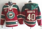 Wholesale Cheap Wild #40 Devan Dubnyk Red Sawyer Hooded Sweatshirt Stitched NHL Jersey