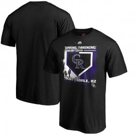 Wholesale Cheap Colorado Rockies Majestic 2019 Spring Training Cactus League Big & Tall Base on Balls T-Shirt Black