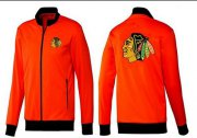 Wholesale Cheap NHL Chicago Blackhawks Zip Jackets Orange-1
