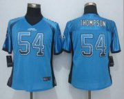 Wholesale Nike Panthers #54 Shaq Thompson Blue Alternate Women's Stitched NFL Elite Drift Fashion Jersey