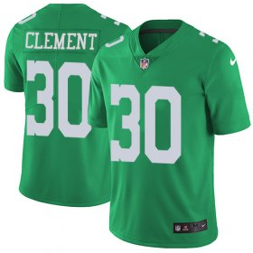 Wholesale Cheap Nike Eagles #30 Corey Clement Green Men\'s Stitched NFL Limited Rush Jersey