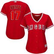 Wholesale Cheap Angels #17 Shohei Ohtani Red Alternate Women's Stitched MLB Jersey