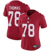 Wholesale Cheap Nike Giants #78 Andrew Thomas Red Alternate Women's Stitched NFL Vapor Untouchable Limited Jersey