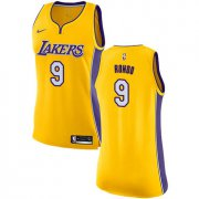Wholesale Cheap Women's Nike Los Angeles Lakers #9 Rajon Rondo Gold NBA Swingman Icon Edition Jersey