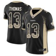Wholesale Cheap Nike Saints #13 Michael Thomas Black Team Color Men's Stitched NFL Limited Rush Drift Fashion Jersey