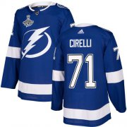 Cheap Adidas Lightning #71 Anthony Cirelli Blue Home Authentic 2020 Stanley Cup Champions Stitched NHL Jersey