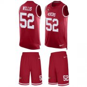 Wholesale Cheap Nike 49ers #52 Patrick Willis Red Team Color Men's Stitched NFL Limited Tank Top Suit Jersey