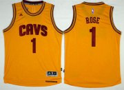 Wholesale Cheap Cleveland Cavaliers #1 Derrick Rose Gold Alternate Stitched NBA Jersey