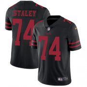 Wholesale Cheap Nike 49ers #74 Joe Staley Black Alternate Youth Stitched NFL Vapor Untouchable Limited Jersey