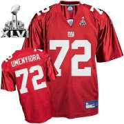 Wholesale Cheap Giants #72 Osi Umenyiora Red Super Bowl XLVI Embroidered NFL Jersey