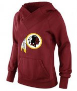Wholesale Cheap Women's Washington Redskins Logo Pullover Hoodie Red