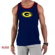 Wholesale Cheap Men's Nike NFL Green Bay Packers Sideline Legend Authentic Logo Tank Top Dark Blue_1