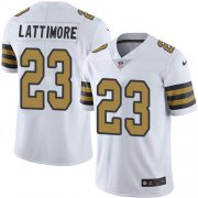 Wholesale Cheap Nike Saints #23 Marshon Lattimore White Youth Stitched NFL Limited Rush Jersey