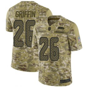 Wholesale Cheap Nike Seahawks #26 Shaquem Griffin Camo Men\'s Stitched NFL Limited 2018 Salute To Service Jersey