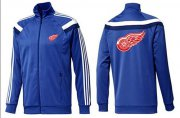 Wholesale Cheap NHL Detroit Red Wings Zip Jackets Blue-4