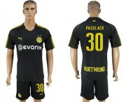 Wholesale Cheap Dortmund #30 Passlack Away Soccer Club Jersey