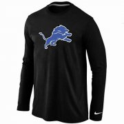 Wholesale Cheap Nike Detroit Lions Logo Long Sleeve T-Shirt Black