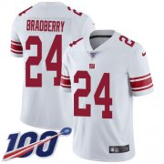 Wholesale Cheap Nike Giants #24 James Bradberry White Men's Stitched NFL 100th Season Vapor Untouchable Limited Jersey