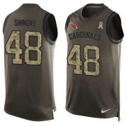 Wholesale Cheap Nike Cardinals #48 Isaiah Simmons Green Men's Stitched NFL Limited Salute To Service Tank Top Jersey