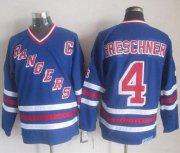 Wholesale Cheap Rangers #4 Ron Greschner Blue CCM Heroes Of Hockey Alumni Stitched NHL Jersey
