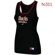 Wholesale Cheap Women's Nike Arizona Diamondbacks Tri-Blend Racerback Stretch Tank Top Black