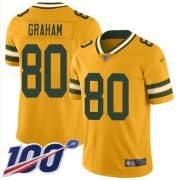 Wholesale Cheap Nike Packers #80 Jimmy Graham Gold Men's Stitched NFL Limited Inverted Legend 100th Season Jersey