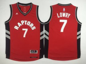 Wholesale Cheap Men\'s Toronto Raptors #7 Kyle Lowry Revolution 30 Swingman 2014 New Red Jersey
