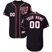 Wholesale Cheap Washington Nationals Majestic Alternate Flex Base Authentic Collection Custom Jersey Navy