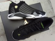 Wholesale Cheap Womens Jordan 14 Retro Shoes Black/White-Green