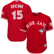 Wholesale Cheap Blue Jays #15 Randal Grichuk Red New Cool Base Stitched MLB Jersey