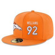 Wholesale Cheap Denver Broncos #92 Sylvester Williams Snapback Cap NFL Player Orange with White Number Stitched Hat