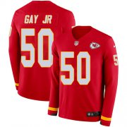 Wholesale Cheap Nike Chiefs #50 Willie Gay Jr. Red Team Color Youth Stitched NFL Limited Therma Long Sleeve Jersey